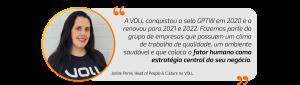 A VOLL é pela segunda vez consecutiva uma das melhores empresas para se trabalhar